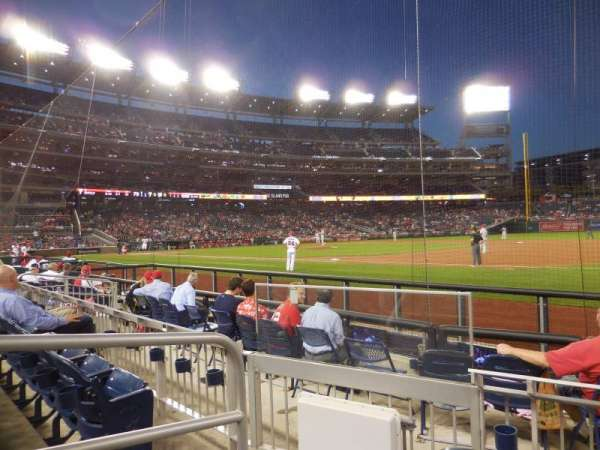 Nationals Park, secção: 132, fila: F, lugar: 14