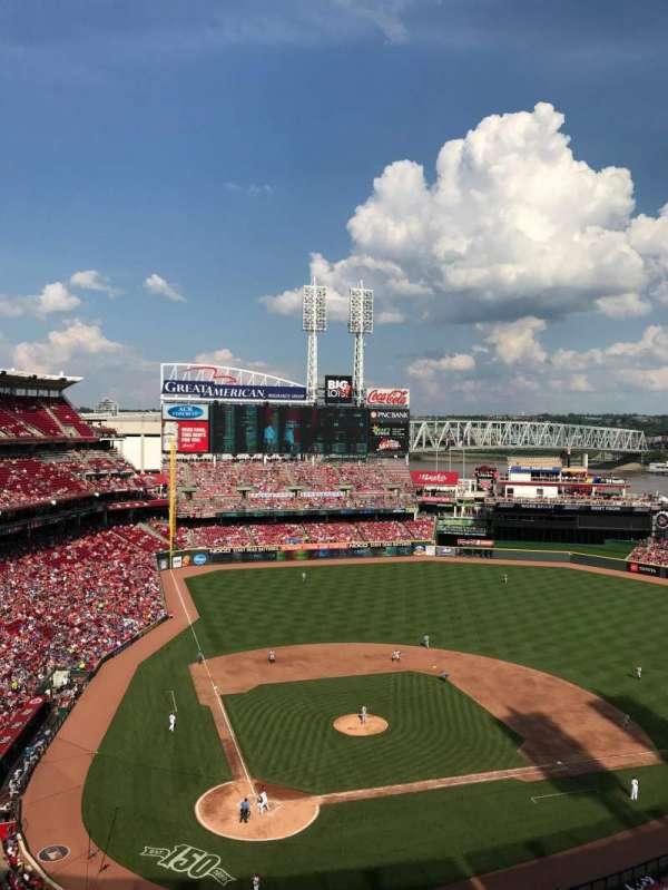 Great American Ball Park, secção: 527, fila: F, lugar: 19