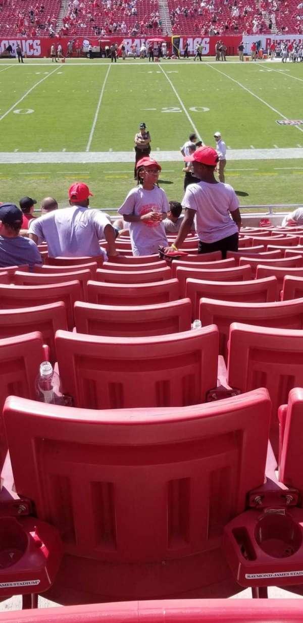 Raymond James Stadium, secção: 133, fila: S, lugar: 17
