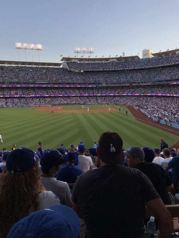 Dodger Stadium, secção: 303PL, fila: Y, lugar: 4