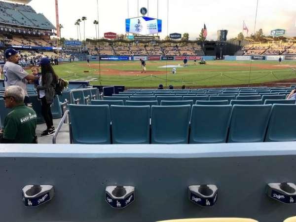 Dodger Stadium, secção: 6FD, fila: B, lugar: 3