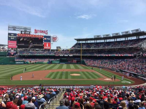 Nationals Park, secção: 117, fila: WW, lugar: 5-6