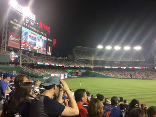 Nationals Park, secção: 103, fila: U, lugar: 6-8