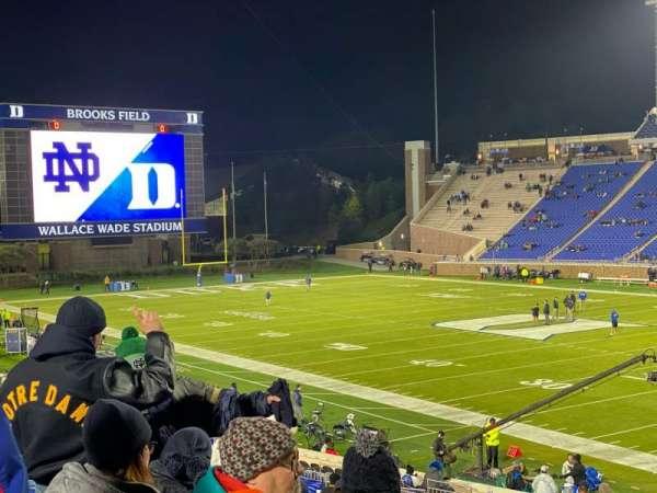 Wallace Wade Stadium, secção: 110, fila: AA, lugar: 1