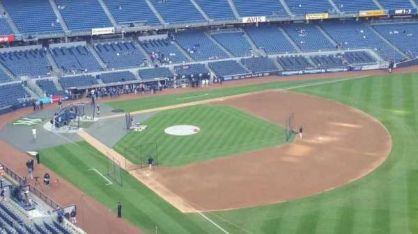 Yankee Stadium, secção: 410, fila: 1, lugar: 1