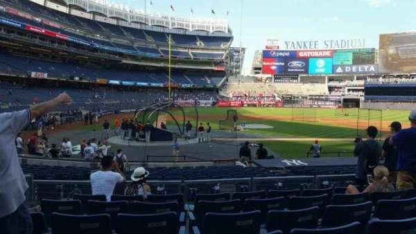 Yankee Stadium, secção: 117B, fila: 7, lugar: 9