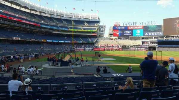 Yankee Stadium, secção: 117B, fila: 7, lugar: 7