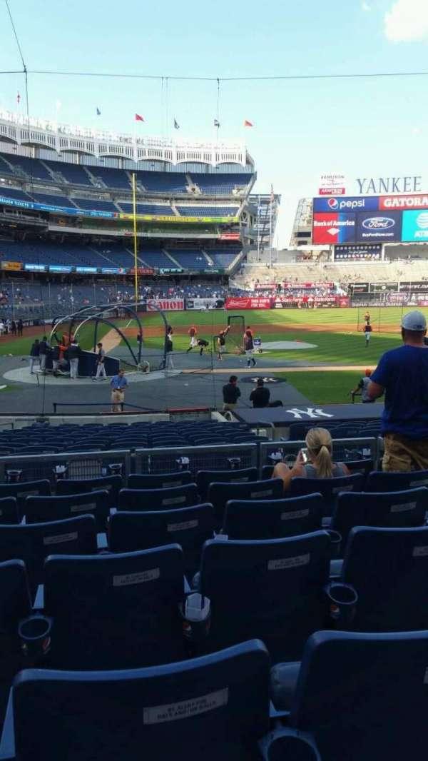 Yankee Stadium, secção: 117B, fila: 7, lugar: 6