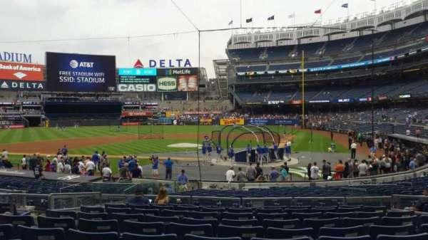 Yankee Stadium, secção: 121B, fila: 10, lugar: 7