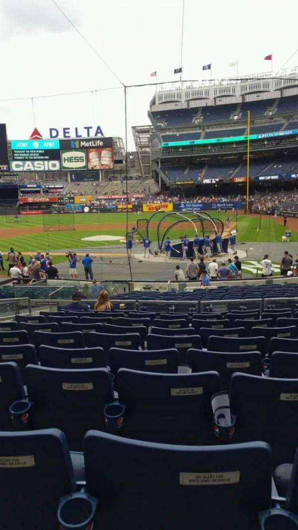 Yankee Stadium, secção: 121B, fila: 10, lugar: 8