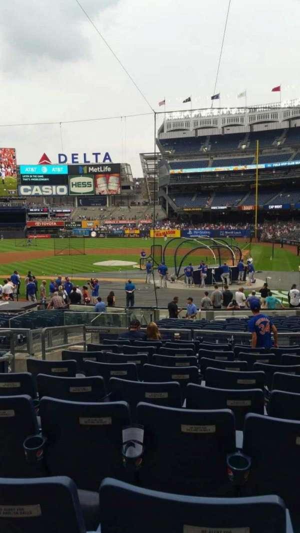 Yankee Stadium, secção: 121B, fila: 10, lugar: 10