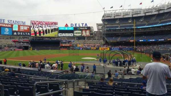 Yankee Stadium, secção: 121B, fila: 10, lugar: 11