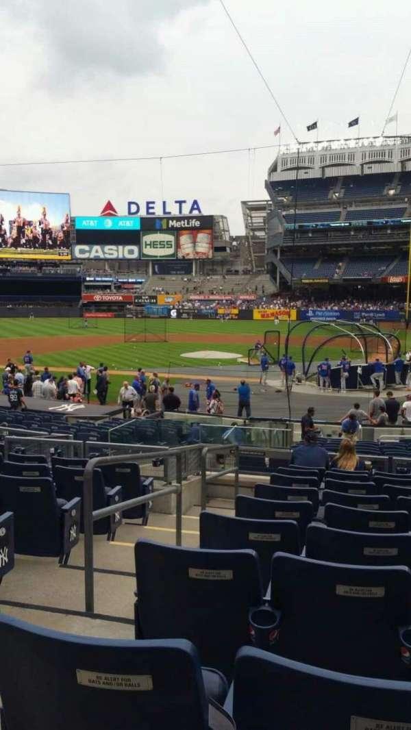 Yankee Stadium, secção: 121B, fila: 10, lugar: 12