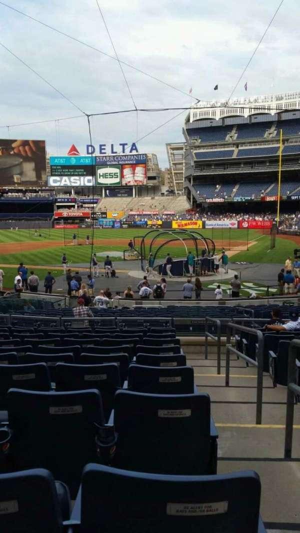 Yankee Stadium, secção: 121B, fila: 11, lugar: 1