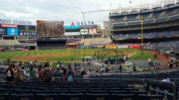 Yankee Stadium, secção: 121B, fila: 11, lugar: 2