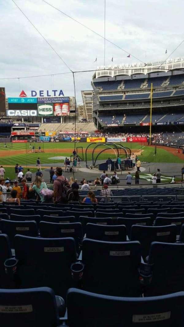 Yankee Stadium, secção: 121B, fila: 11, lugar: 5