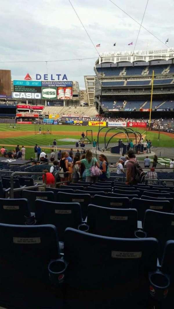 Yankee Stadium, secção: 121B, fila: 11, lugar: 7