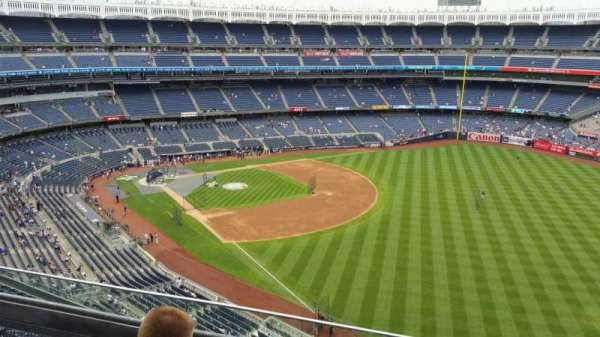 Yankee Stadium, secção: 409, fila: 3, lugar: 6