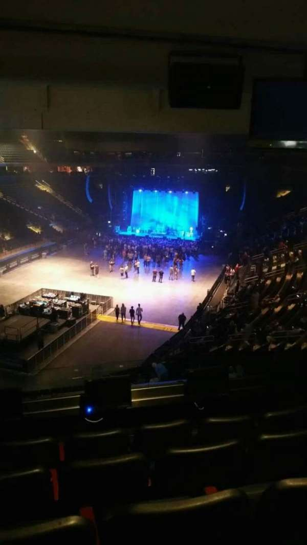 Madison Square Garden, secção: 206, fila: 5, lugar: 4