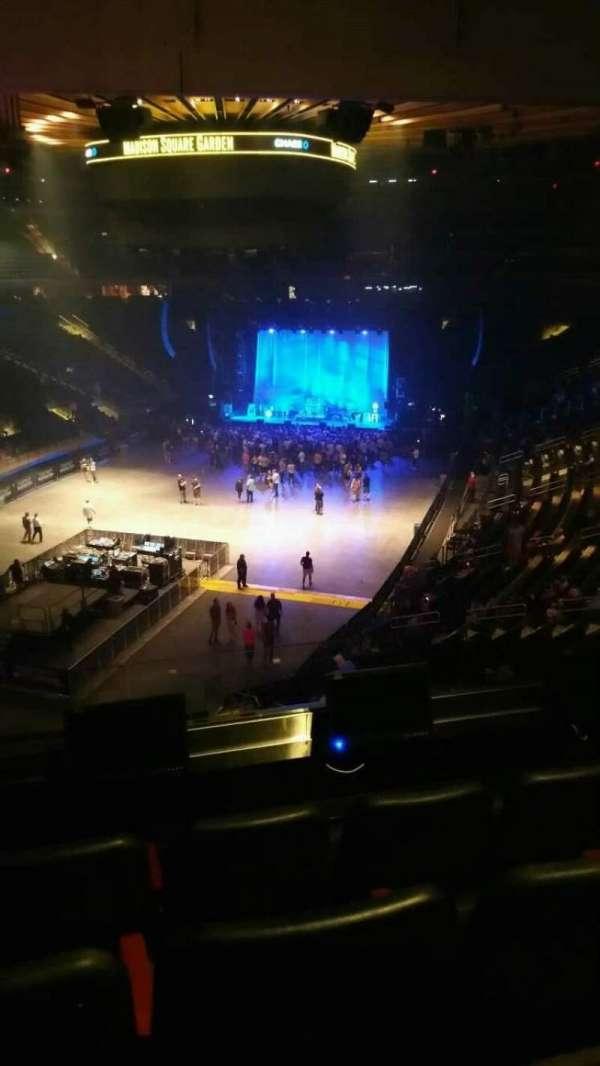 Madison Square Garden, secção: 206, fila: 4, lugar: 1
