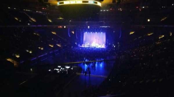 Madison Square Garden, secção: 206, fila: 1, lugar: 1