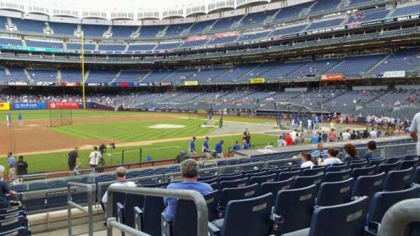 Yankee Stadium, secção: 126, fila: 8, lugar: 1