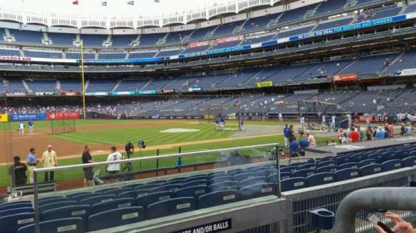 Yankee Stadium, secção: 126, fila: 2, lugar: 1