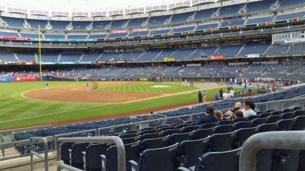 Yankee Stadium, secção: 128, fila: 8, lugar: 1