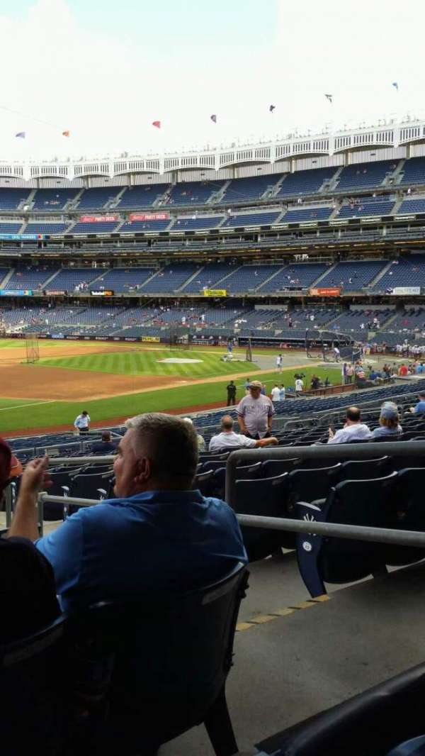 Yankee Stadium, secção: 128, fila: 16, lugar: 3