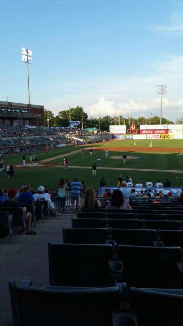 TD Bank Ballpark, secção: 211, fila: U, lugar: 18