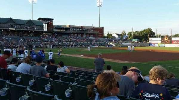 TD Bank Ballpark, secção: 119, fila: I, lugar: 1