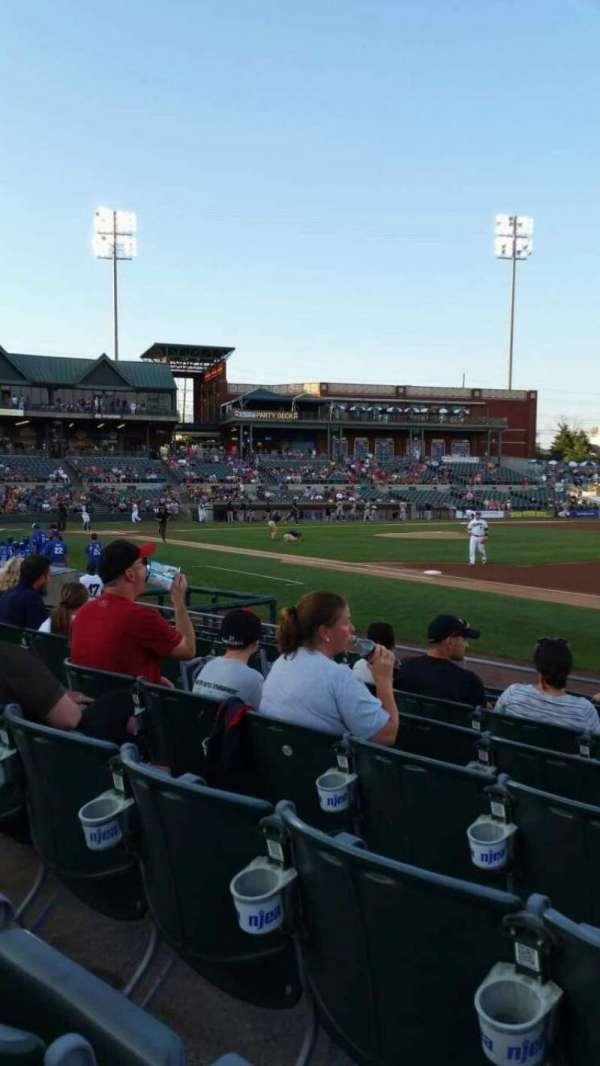 TD Bank Ballpark, secção: 119, fila: I, lugar: 4