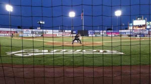 TD Bank Ballpark, secção: 101, fila: A, lugar: 7