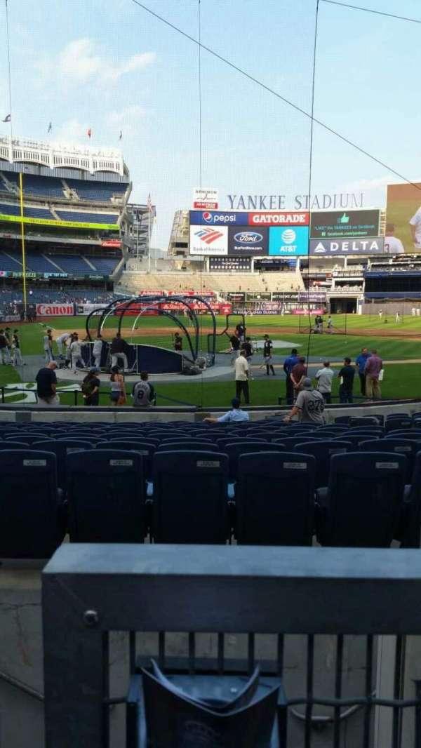 Yankee Stadium, secção: 118, fila: 3, lugar: 7