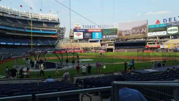 Yankee Stadium, secção: 118, fila: 3, lugar: 1