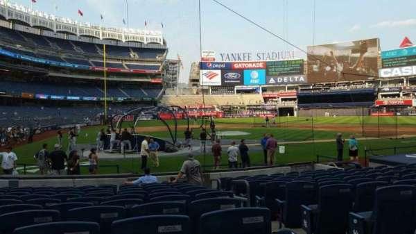 Yankee Stadium, secção: 118, fila: 1, lugar: 1