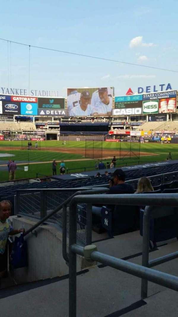 Yankee Stadium, secção: 118, fila: 6, lugar: 1