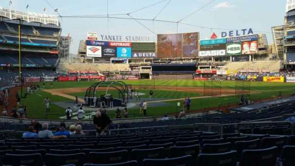 Yankee Stadium, secção: 119, fila: 11, lugar: 5