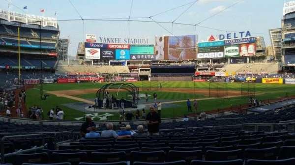 Yankee Stadium, secção: 119, fila: 11, lugar: 7
