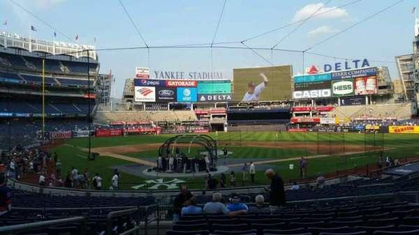 Yankee Stadium, secção: 119, fila: 11, lugar: 8