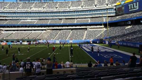 MetLife Stadium, secção: 134, fila: 10, lugar: 21