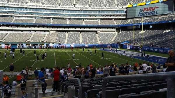 MetLife Stadium, secção: 137, fila: 15, lugar: 1