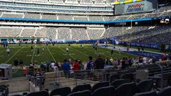 MetLife Stadium, secção: 137, fila: 15, lugar: 6