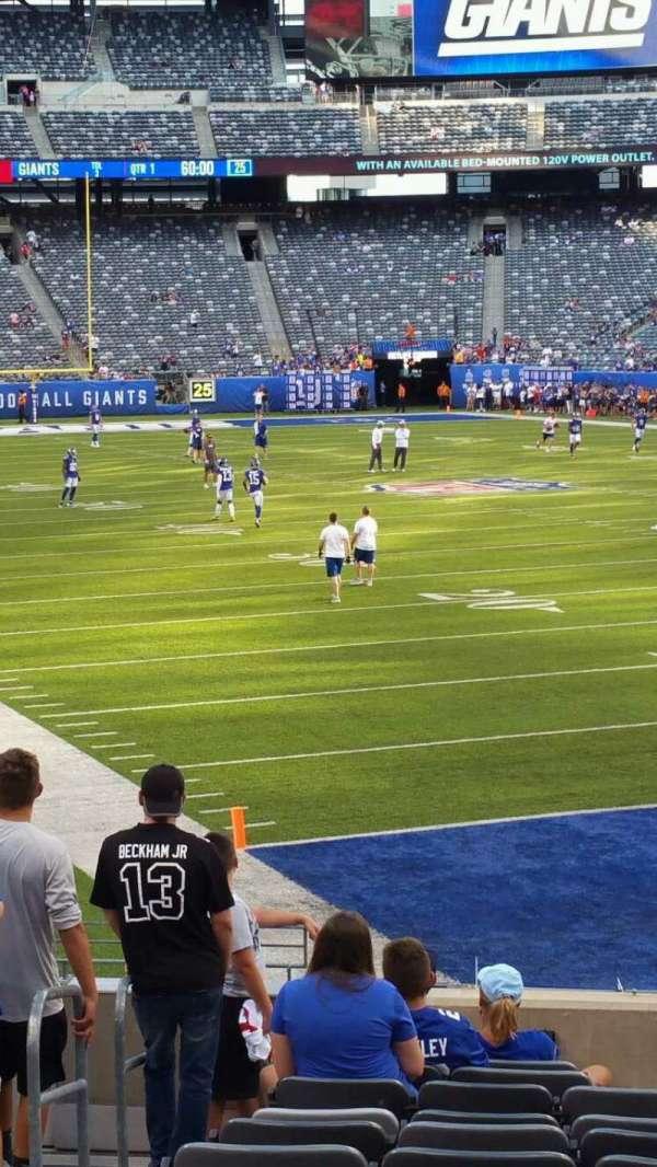 MetLife Stadium, secção: 129, fila: 15, lugar: 24