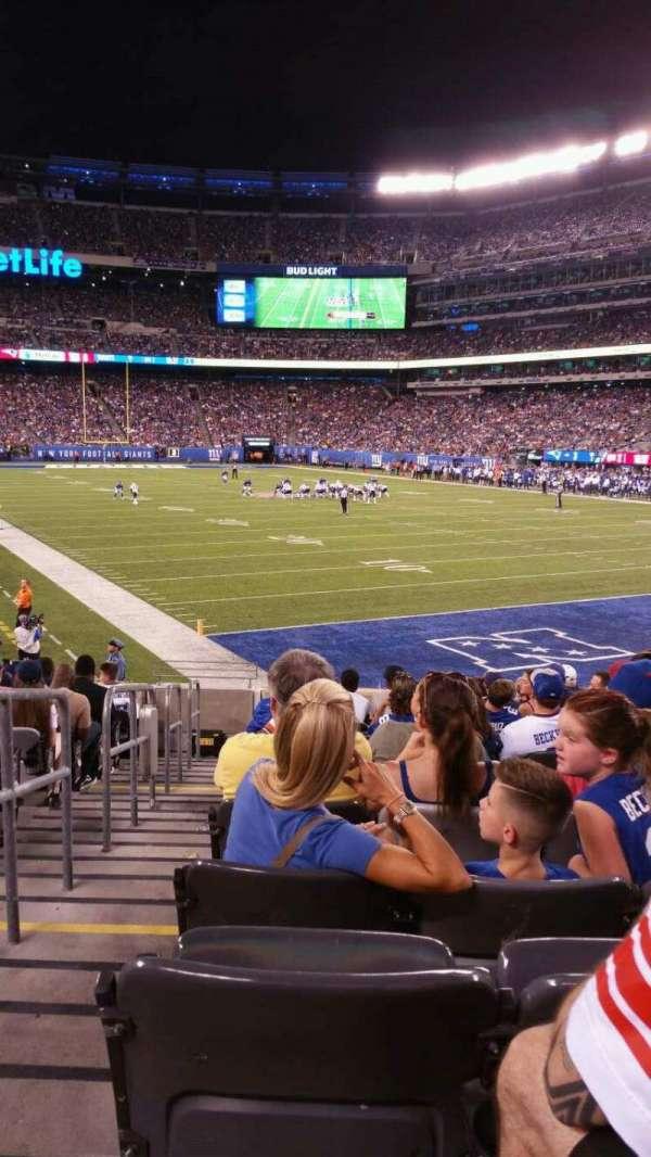 MetLife Stadium, secção: 129, fila: 15, lugar: 25