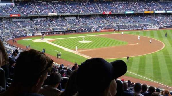 Yankee Stadium, secção: 210, fila: 22, lugar: 18
