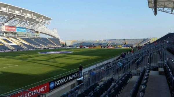 Talen Energy Stadium, secção: 113, fila: J, lugar: 1
