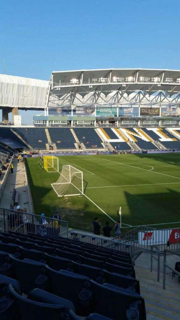 Talen Energy Stadium, secção: 113, fila: P, lugar: 1