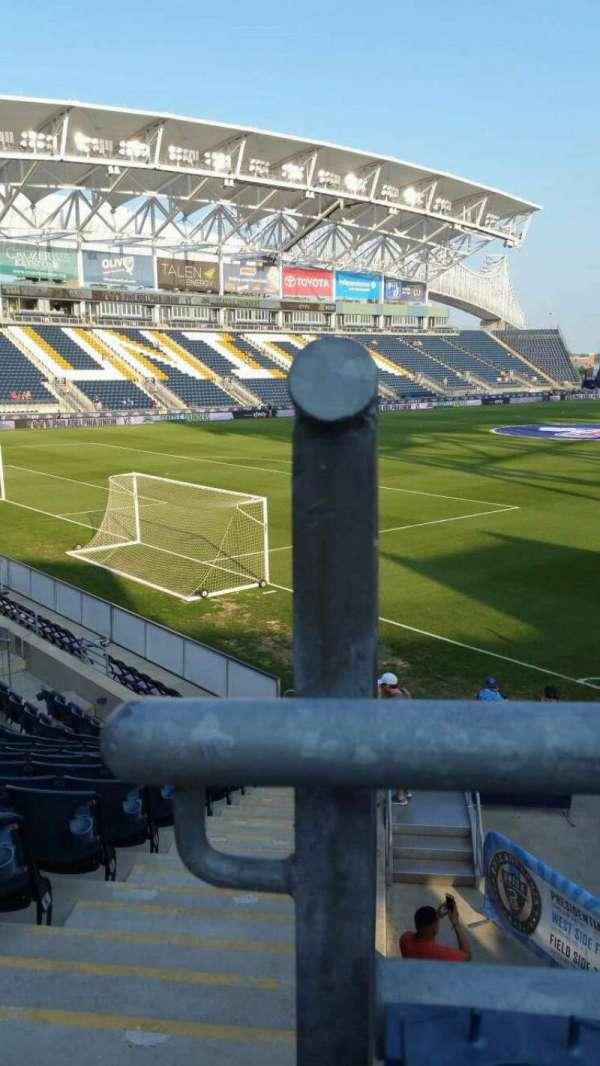 Talen Energy Stadium, secção: 113, fila: P, lugar: 24