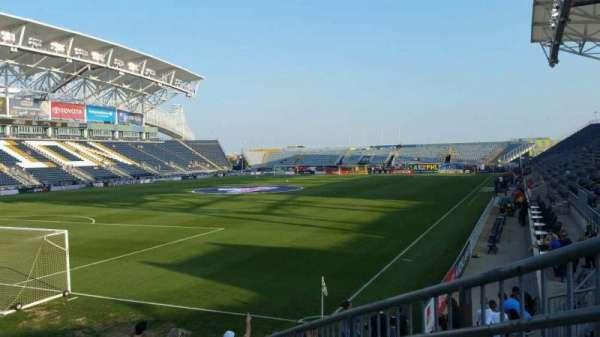 Talen Energy Stadium, secção: 114, fila: L, lugar: 1